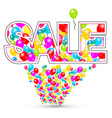 Sale Colorful Balloons vector image vector image