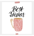 Best wishes- Holiday unique handwritten lettering vector image