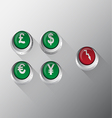Currency Button vector image