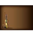 A Beautiful Modern Violin on Dark Brown Background vector image