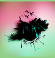 watercolor grunge colorful banner background vector image