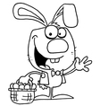 Cartoon easter bunny vector image vector image