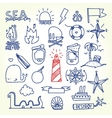 Hand drawn old school tattoo objects vector image