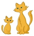 cat with a kitten vector image