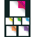 page icons vector image vector image