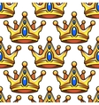 Cartoon golden crowns seamless pattern vector image