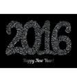 Happy New Year 2016 celebration background vector image