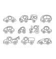 small cars set vector image
