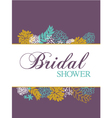 bridal shower card vector image vector image