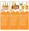 Set of banner for brewery industry with brewery vector image