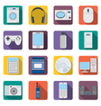 Set of flat appliances and electronic devices icon vector image