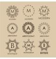 Set of simple and elegant monogram designs vector image