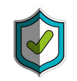 shield with check icon vector image