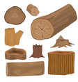 stacked wood pine timber for construction building vector image