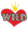wild heart shirt design symbol vector image