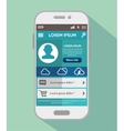 mobile design app weather forecast vector image