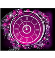 Happy New Year background silver and violet vector image
