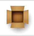brown cardboard box vector image