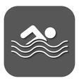 Swimming icon Swimmer symbol Flat vector image