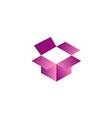 open box 3D gift logo vector image