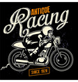 cafe racer badge vector image vector image
