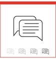 icon of chat vector image vector image