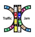traffic jam vector image
