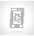 Phone video app flat line icon vector image