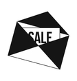 Envelope with card Sale icon simple style vector image