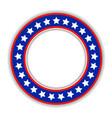 american patriotic round frame icon vector image