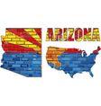 Arizona on a brick wall vector image