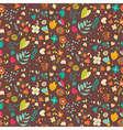 Bohemian hand drawn flowers seamless pattern vector image