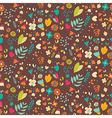 Bohemian hand drawn flowers seamless pattern vector image
