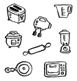 doodle series kitchenappliance vector image