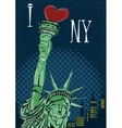 I Love New York Poster vector image