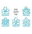lotus yoga logo vector image