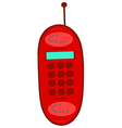 Red Cell Phone vector image