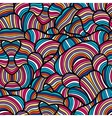 Seamless pattern with hand drawn waves line art vector image