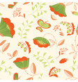 decorative seamless background with flowers vector image vector image
