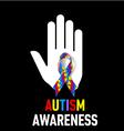 Autism Awareness sign vector image vector image