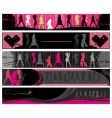 club girls banners vector image vector image