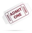 Ticket vector image