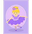 Cute Purple Ballerina Girl vector image