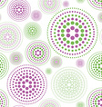abstract background with color circles green pink vector image