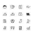 boy school black icon set on white background vector image