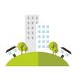 building house home green area vector image