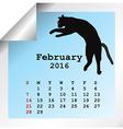 February 2016 Calendar vector image