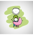lovely family icon vector image