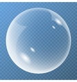 New bubble with glare icon vector image
