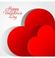 Realistic two Red Heart cut out of paper vector image